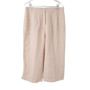 J. Jill 100% Linen Peach Lined Crop Wide Leg Pants 14P Petite